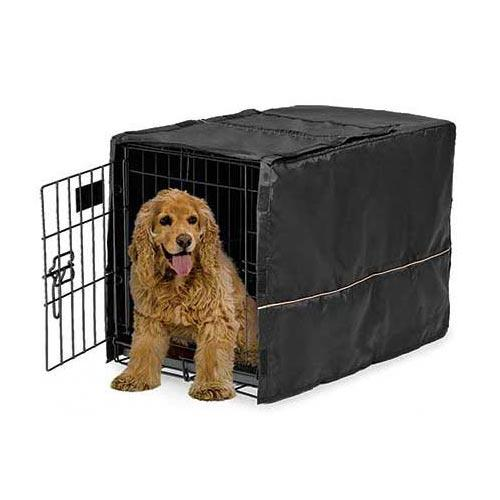 "Midwest Quiet Time Pet Crate Cover Black 30.5"" x 20"" x 20.5""-Dog-Midwest-PetPhenom"