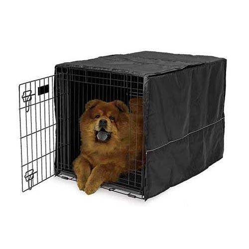 "Midwest Quiet Time Pet Crate Cover Black 36"" x 23.5"" x 24""-Dog-Midwest-PetPhenom"