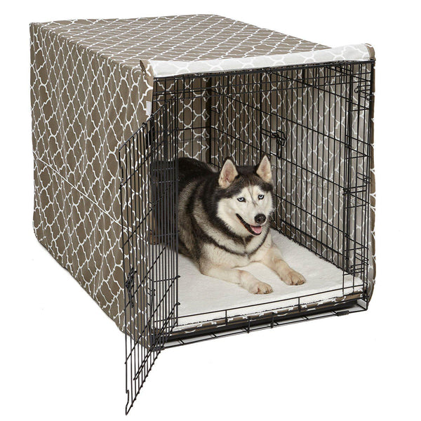 "Midwest QuietTime Defender Covella Dog Crate Cover Brown 36"" x 23"" x 25"""