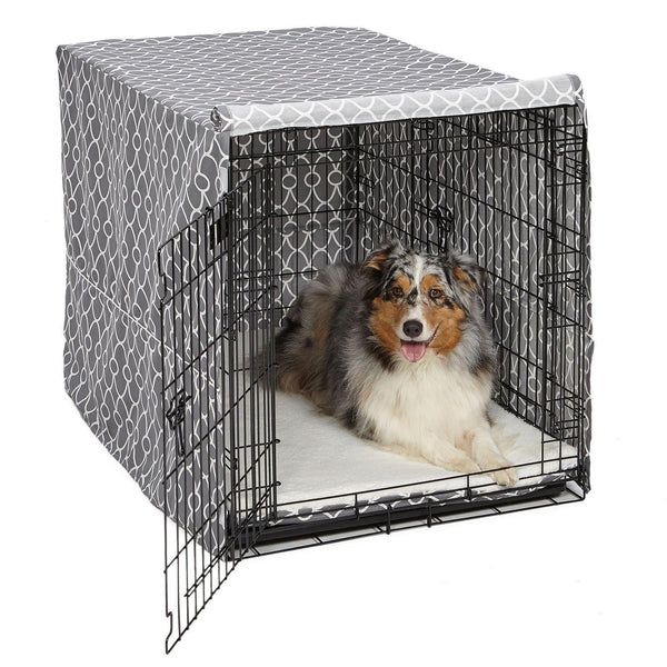 "Midwest QuietTime Defender Covella Dog Crate Cover Gray 42"" x 28"" x 30"""