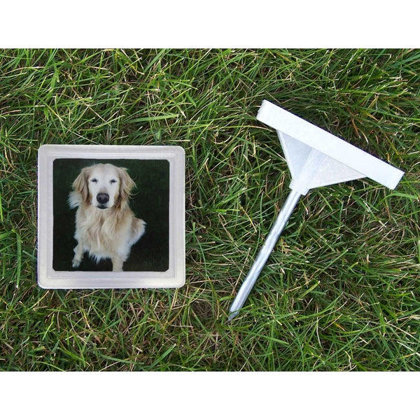 "Hueter Toledo Memory Stone with Photo Frame Small Gray 5"" x 5"" x 1.25""-Dog-Hueter Toledo-PetPhenom"