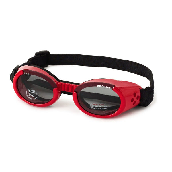 Doggles ILS Dog Sunglasses Medium Red / Smoke-Dog-Doggles-PetPhenom