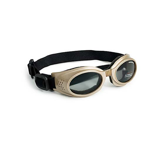 Doggles Originalz Dog Sunglasses Large Chrome / Smoke-Dog-Doggles-PetPhenom