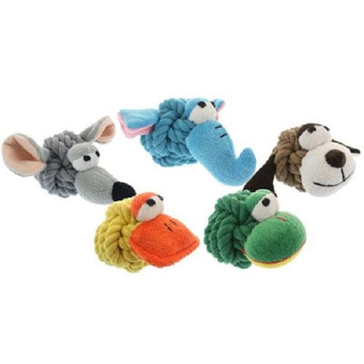 "MultiPet Rope Head with Squeaker 4"" -Frog-Dog-MultiPet-PetPhenom"