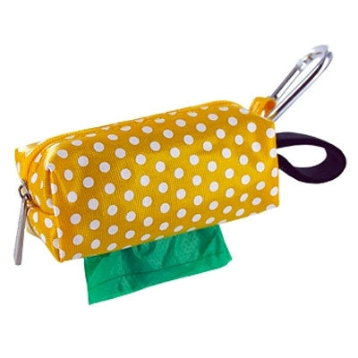 Doggie Walk Bags Duffel - Yellow Dots w/1 Roll-Dog-Doggie Walk Bags-PetPhenom