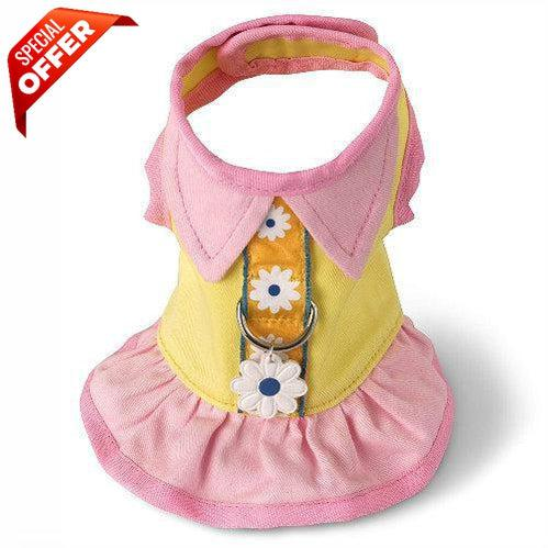 Doggles Harness Dress Yellow-Dog-Doggles-Teacup-PetPhenom