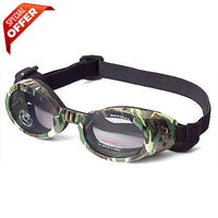 Doggles ILS Green Camo Frame with Light Smoke Lens Dog Goggles