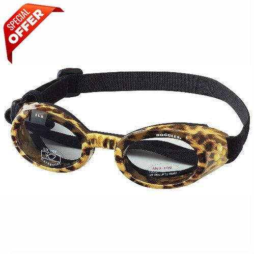 Doggles ILS Leopard Frame with Smoke Lens Dog Goggles