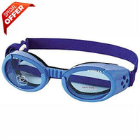 Doggles ILS Shiny Blue Frame with Blue Lens Dog Goggles