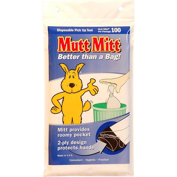 Mutt Mitt Waste Disposal Bags 100 pack White-Dog-Mutt Mitt-PetPhenom