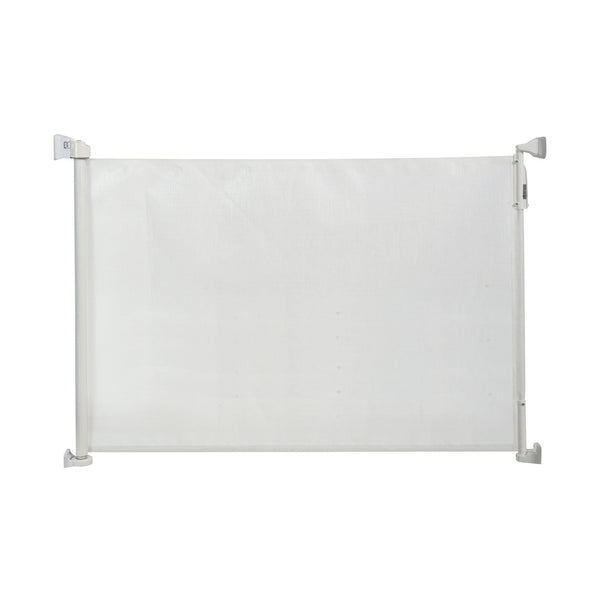 "Kidco Retractable Safeway Mesh Mounted Gate White 55"" x 1"" x 33.5""-Dog-Kidco-PetPhenom"