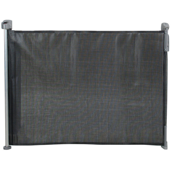 "Kidco Retractable Safeway Mesh Mounted Gate Black 55"" x 1"" x 33.5""-Dog-Kidco-PetPhenom"