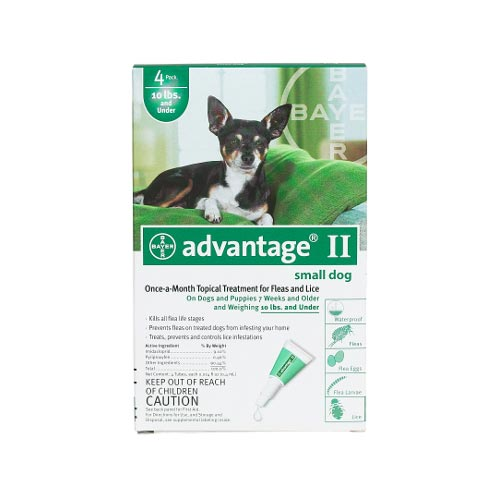 Advantage Flea Control for Dogs and Puppies Under 10 lbs 4 Month Supply-Dog-Advantage-PetPhenom