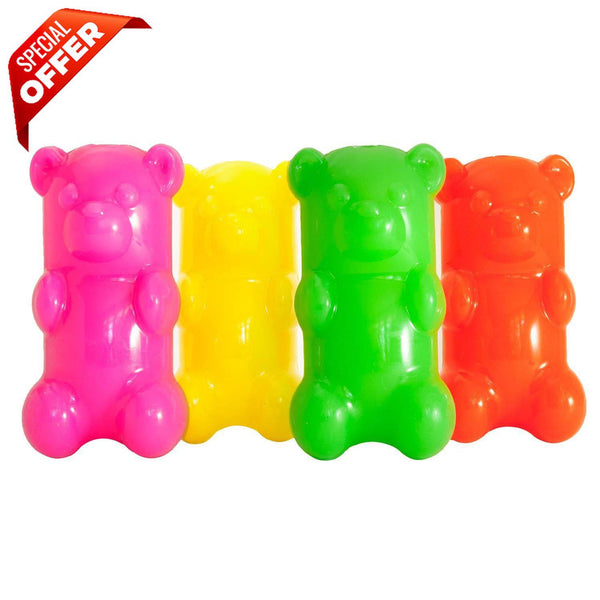 "Ruff Dawg GummyBear Dog Toy Assorted 2.5"" x 2"" x 6""-Dog-Ruff Dawg-PetPhenom"