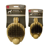 "Hugs Pet Products Massaging Pet Palm Brush Small Brown 5.75"" x 3"" x 2.25""-Dog-Hugs Pet Products-PetPhenom"