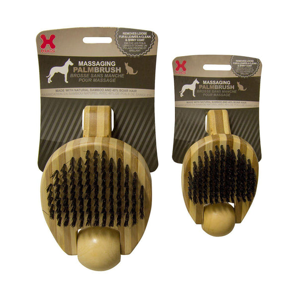 "Hugs Pet Products Massaging Pet Palm Brush Small Brown 5.75"" x 3"" x 2.25"""