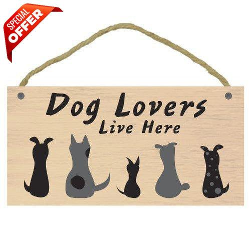 Imagine This Dog Lovers Here Wood Sign-Dog-Imagine This-PetPhenom