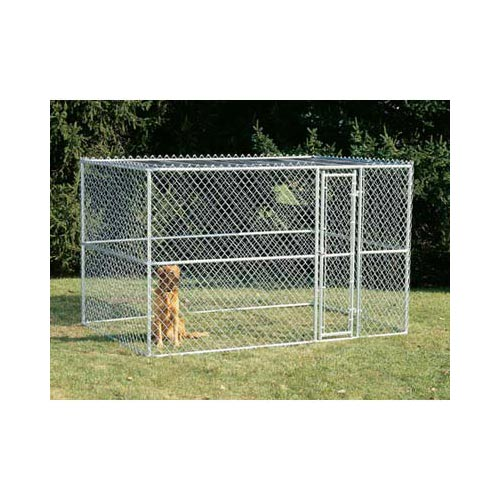 "Midwest Chain Link Portable Dog Kennel Silver 120"" x 72"" x 72""-Dog-Midwest-PetPhenom"