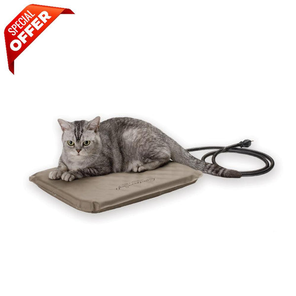 "K&H Pet Products Lectro-Soft Heated Outdoor Bed Small Tan 14"" x 18"" x 1.5""-Dog-K&H Pet Products-PetPhenom"