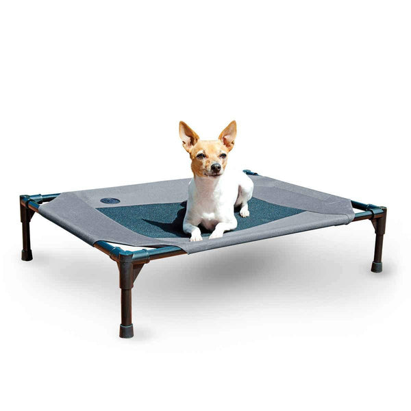 "K&H Pet Products Original Pet Cot Medium Gray 25"" x 32"" x 7""-Dog-K&H Pet Products-PetPhenom"