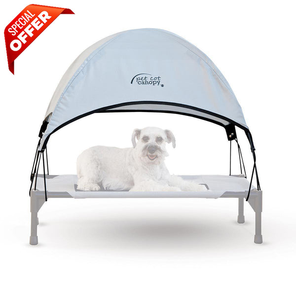 "K&H Pet Products Pet Cot Canopy Medium Gray 25"" x 32"" x 23""-Dog-K&H Pet Products-PetPhenom"