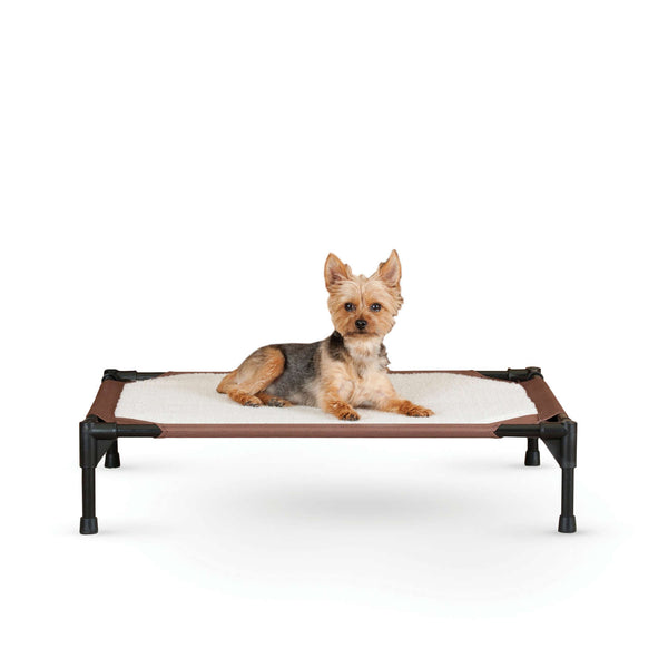 "K&H Pet Products Self-Warming Pet Cot Medium Brown 25"" x 32"" x 7""-Dog-K&H Pet Products-PetPhenom"