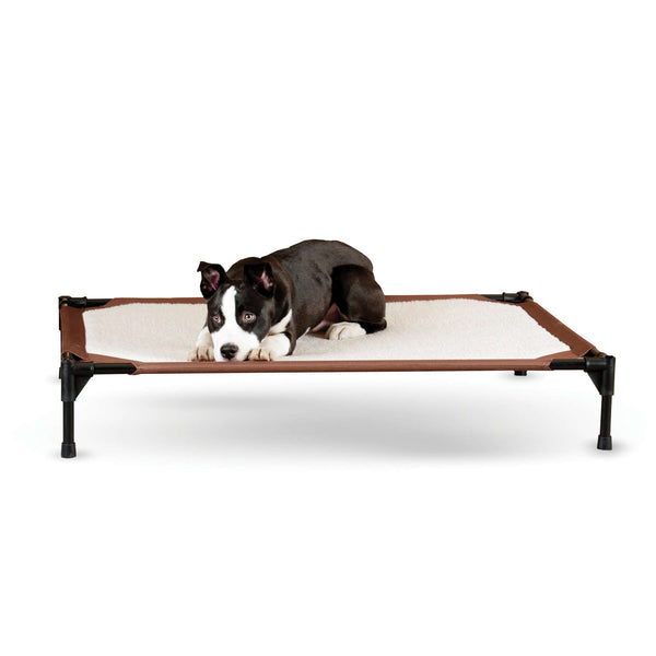 "K&H Pet Products Self-Warming Pet Cot Large Brown 30"" x 42"" x 7""-Dog-K&H Pet Products-PetPhenom"