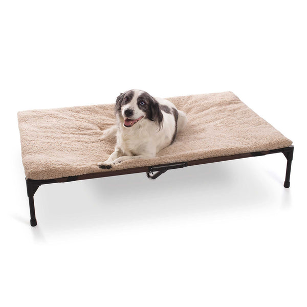 "K&H Pet Products Original Pet Cot Pad Extra Large Beige 32"" x 50"" x 1""-Dog-K&H Pet Products-PetPhenom"