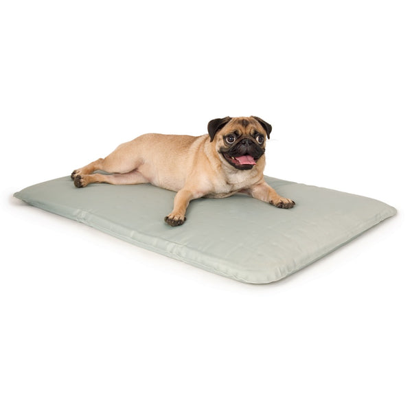 "K&H Pet Products Cool Bed III Thermoregulating Pet Bed Small Gray 17"" x 24"" x 0.5""-Dog-K&H Pet Products-PetPhenom"