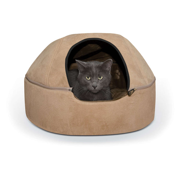 "K&H Pet Products Kitty Dome Bed Unheated Large Tan 20"" x 20"" x 13.50""-Cat-K&H Pet Products-PetPhenom"