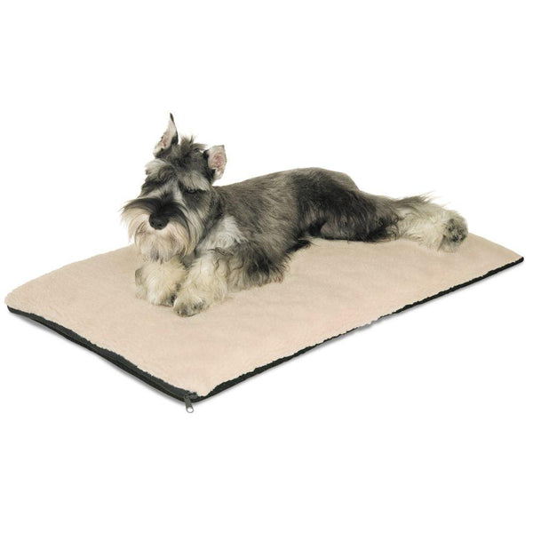 "K&H Pet Products Ortho Thermo Pet Bed Medium White / Green 17"" x 27"" x 3""-Dog-K&H Pet Products-PetPhenom"