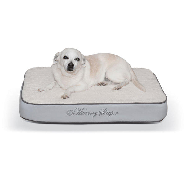 "K&H Pet Products Memory Sleeper Pet Bed Gray 18"" x 26"" x 3.75""-Dog-K&H Pet Products-PetPhenom"