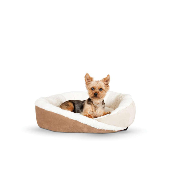 "K&H Pet Products Huggy Nest Pet Bed Large Tan / Caramel 36"" x 30"" x 8""-Dog-K&H Pet Products-PetPhenom"