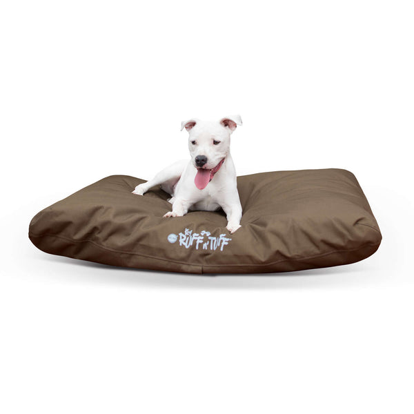 "K&H Pet Products K-9 Ruff n' Tuff Indoor-Outdoor Pet Bed Large Chocolate 36"" x 48"" x 4""-Dog-K&H Pet Products-PetPhenom"