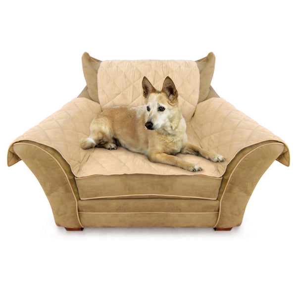 "K&H Pet Products Furniture Cover Chair Tan 22"" x 26"" seat, 42"" x 47"" back, 22"" x 26"" side arms-Dog-K&H Pet Products-PetPhenom"