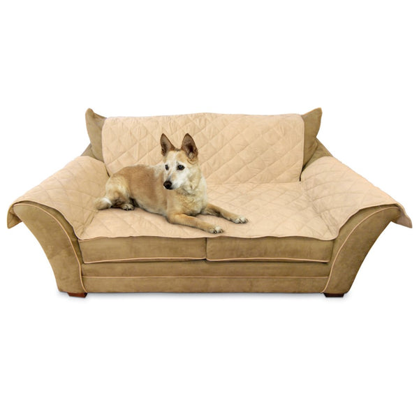 "K&H Pet Products Furniture Cover Loveseat Tan 26"" x 55"" seat, 42"" x 66"" back, 22"" x 26"" side arms-Dog-K&H Pet Products-PetPhenom"