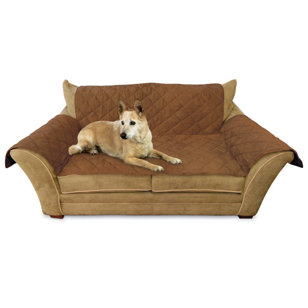 "K&H Pet Products Furniture Cover Loveseat Mocha 26"" x 55"" seat, 42"" x 66"" back, 22"" x 26"" side arms-Dog-K&H Pet Products-PetPhenom"
