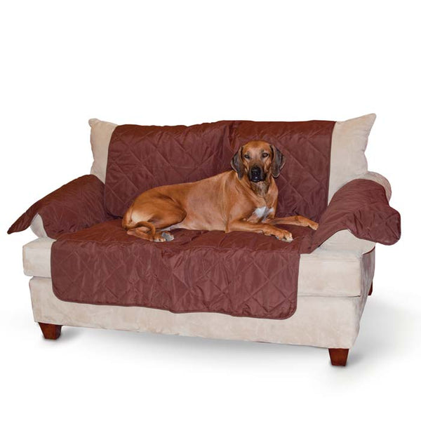 "K&H Pet Products Economy Furniture Cover Couch Chocolate 75"" x 108"" x 0.25""-Dog-K&H Pet Products-PetPhenom"