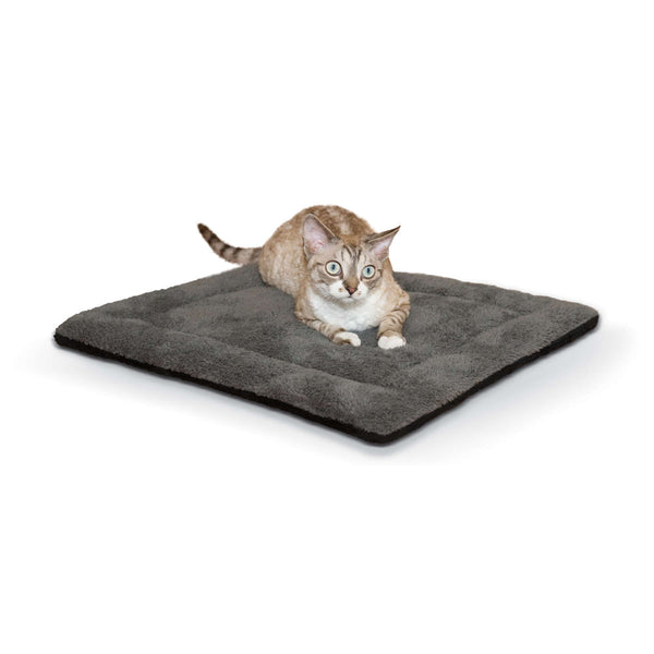 "K&H Pet Products Self-warming Pet Pad Gray/Black 21"" x 17"" x 1""-Dog-K&H Pet Products-PetPhenom"