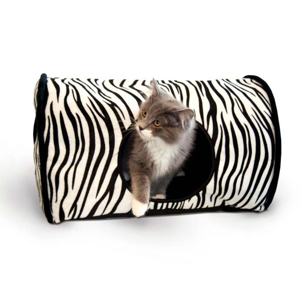 "K&H Pet Products Kitty Camper Bed Zebra 13"" x 18"" x 10""-Cat-K&H Pet Products-PetPhenom"