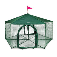 "Kittywalk Gazebo Yard and Garden Outdoor Cat Enclosure Green 70"" x 70"" 38""-Cat-Kittywalk-PetPhenom"