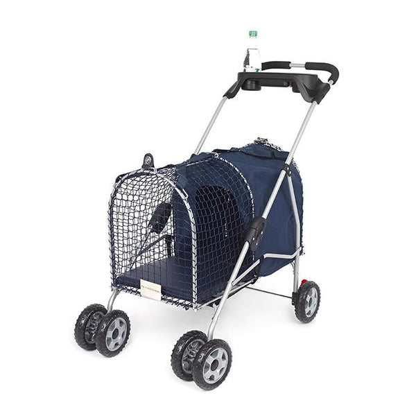 "Kittywalk 5th Ave Luxury Pet Stroller Blue 26"" x 14"" x 35.5""-Cat-Kittywalk-PetPhenom"