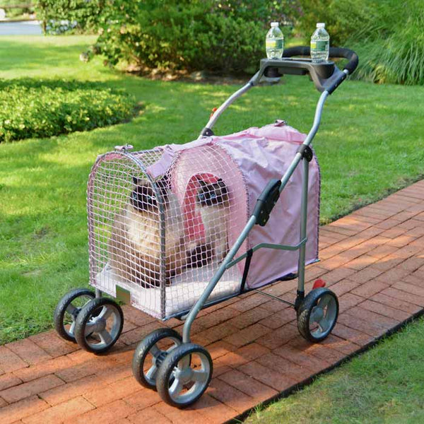 "Kittywalk 5th Ave Pet Stroller SUV Pink 31"" x 16"" x 37.5""-Cat-Kittywalk-PetPhenom"