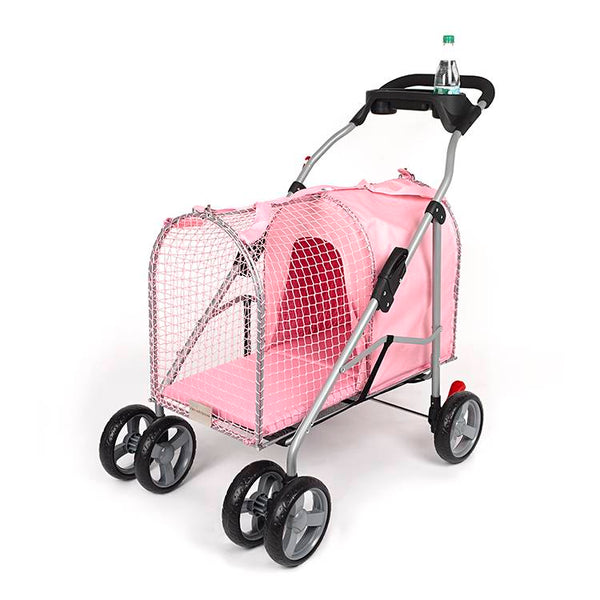 "Kittywalk 5th Ave Pet Stroller Pink 26"" x 14"" x 35.5""-Cat-Kittywalk-PetPhenom"