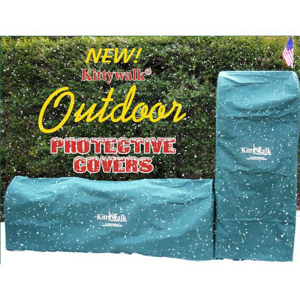 "Kittywalk Outdoor Protective Cover for Kittywalk Single T-Connect Unit Green 24"" x 24"" x 24""-Cat-Kittywalk-PetPhenom"