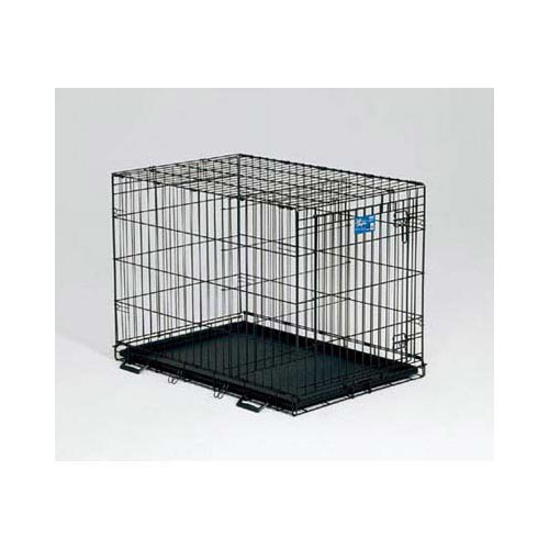 "Midwest Life Stages Single Door Dog Crate Black 24"" x 18"" x 21""-Dog-Midwest-PetPhenom"