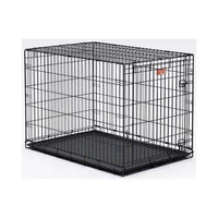 "Midwest Life Stages Single Door Dog Crate Black 48"" x 30"" x 33""-Dog-Midwest-PetPhenom"