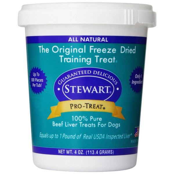 Miracle Corp Stewart Pro-Treat Freeze Dried Beef Liver 4 oz.-Dog-Miracle Corp-PetPhenom