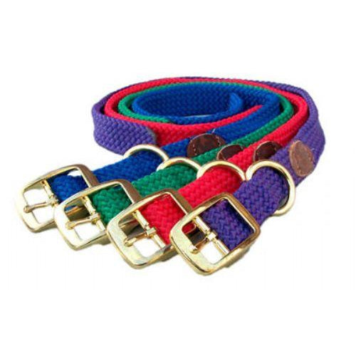"Mendota Pet Double Braid Collar- 1"" x up to 21"" -Red-Dog-Mendota Pet-PetPhenom"