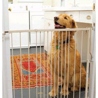 "Cardinal Gates Duragate Hardware Mounted Dog Gate White 26.5"" - 41.5"" x 1.5"" x 29.5""-Dog-Cardinal Gates-PetPhenom"